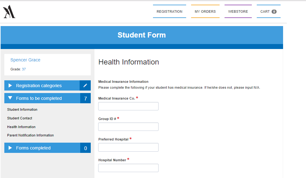 Custom forms for schools and organizations